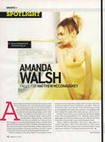 Amanda Walsh - 1 HQ Scan From Famous Magazine