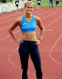 Sina Schelke Can't say that I know too much about this lady other than she is a German sprinter that runs the 200M and 400M and has one heck of a set of abs. Foto 50 (���� Schelke ������ �������, ��� � ������� ����� ���� �� ���� ���� ������, ��� ��� �������� �������� Sprinter, ������� ��������� 200M � 400 ������ � ����� ���� ������� ����� ABS. ���� 50)