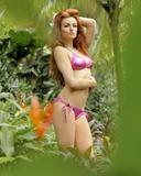 WWE Diva Maria Pink Bikini