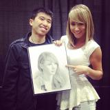 Sara Underwood Instagram from Wizard World Sacramento 4/7/2014