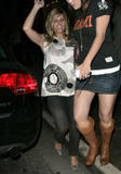 Nicole Eggert Candids Outside Of Koi October 13, 2007