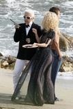 Claudia Schiffer See-Through Dress at Photoshoot for Chanel in St. Tropez Foto 569 (������� ������ See-Through ������ ���������� ��� ������ � ���-����� ���� 569)